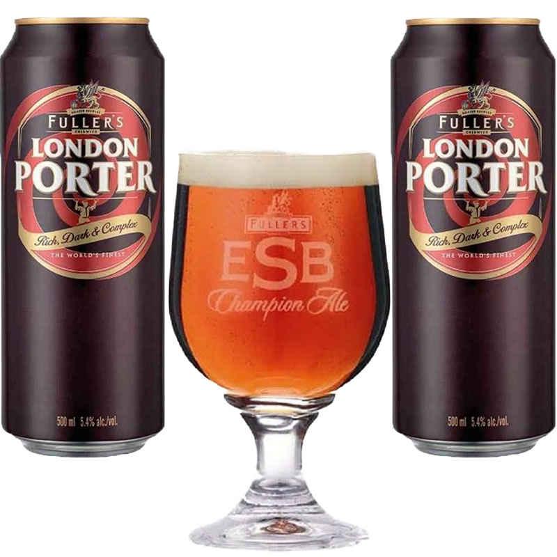 Kit de Cervejas Fuller's London Porter e Taça ESB