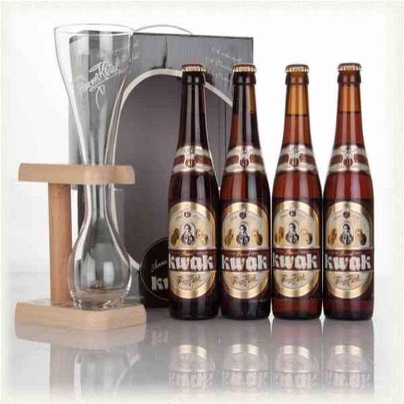 Kit de Cervejas Kwak com Copo 4+1