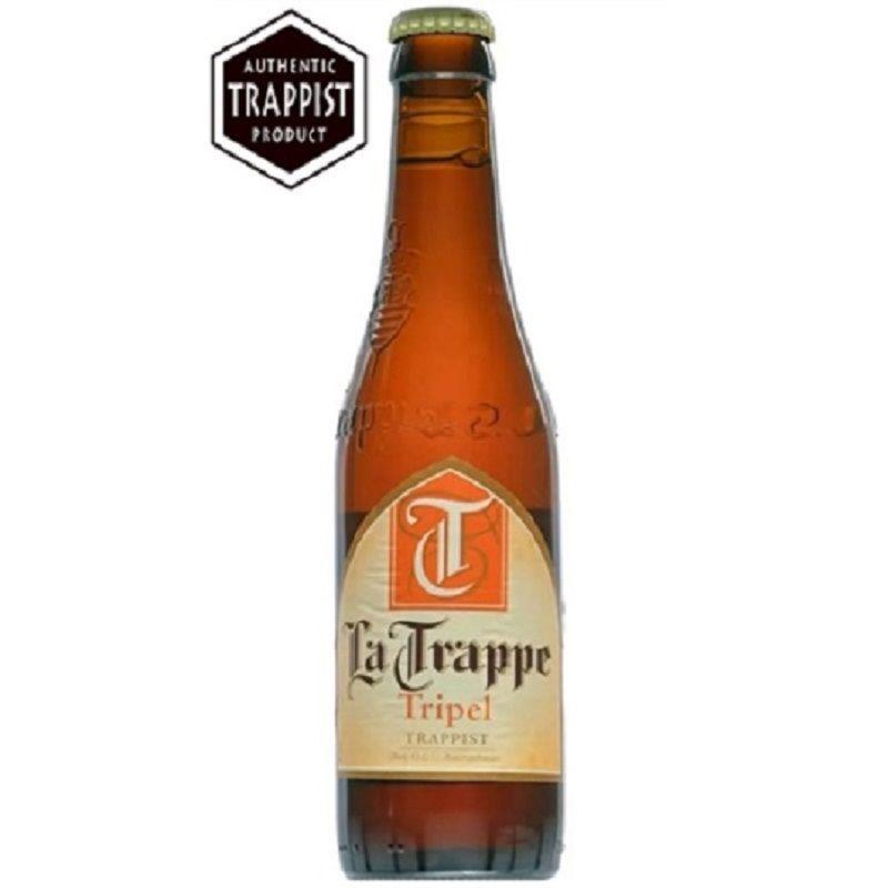 Kit de Cervejas La Trappe contendo 2 Rótulos com Taça