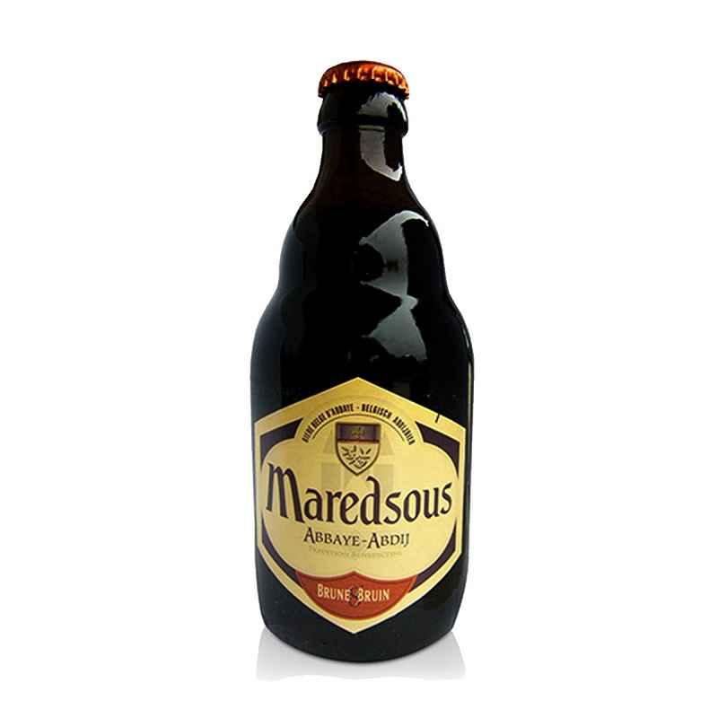 Kit de Cervejas Maredsous Brune 8 com Taça