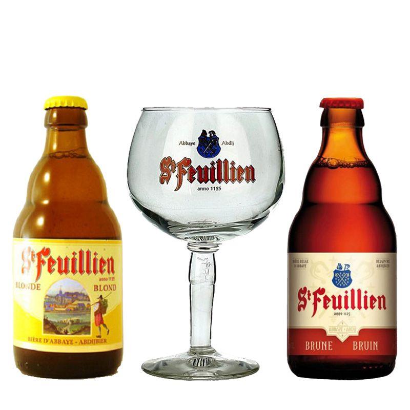 Kit de Cervejas St Feuillien Misto com Taça