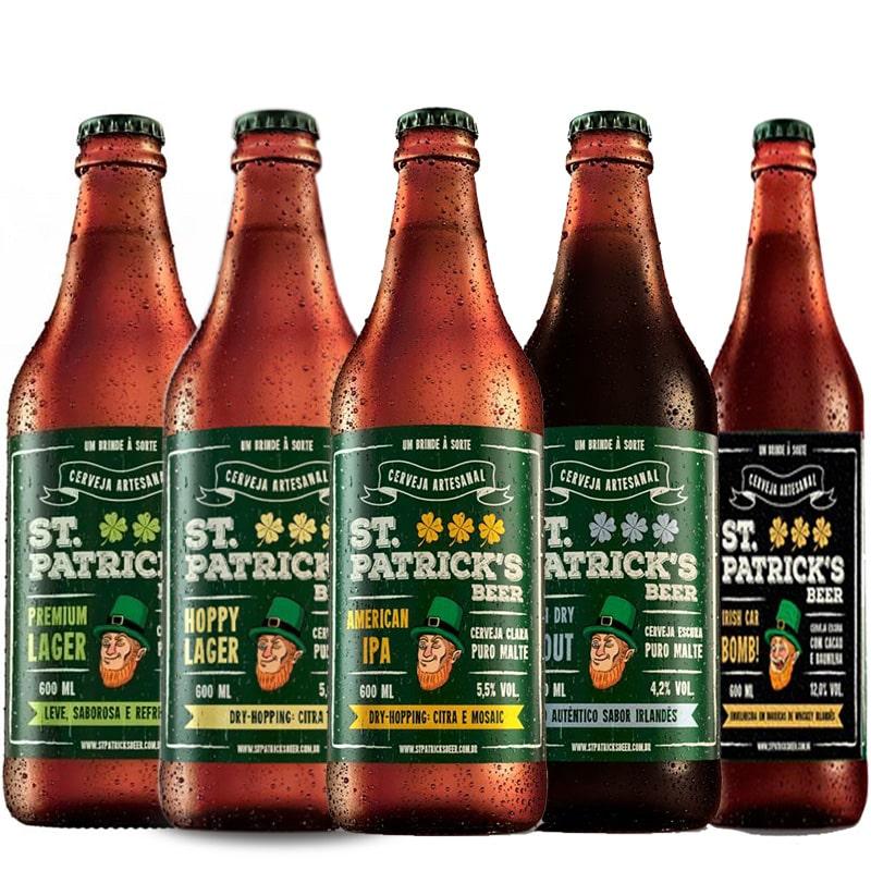 Kit de Cervejas St Patrick's Contendo 5 Rótulos