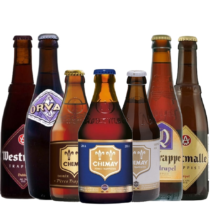 Kit de Cervejas Trapistas contendo 7 Rotulos