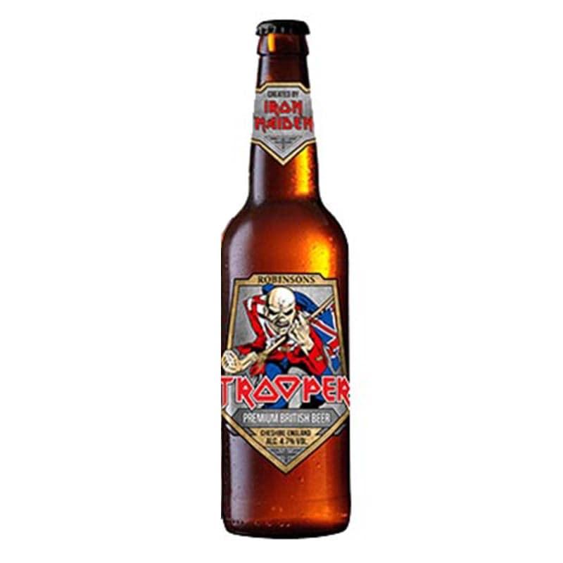 Kit de Cervejas Trooper Iron Maiden 4 Rotulos com Caneca