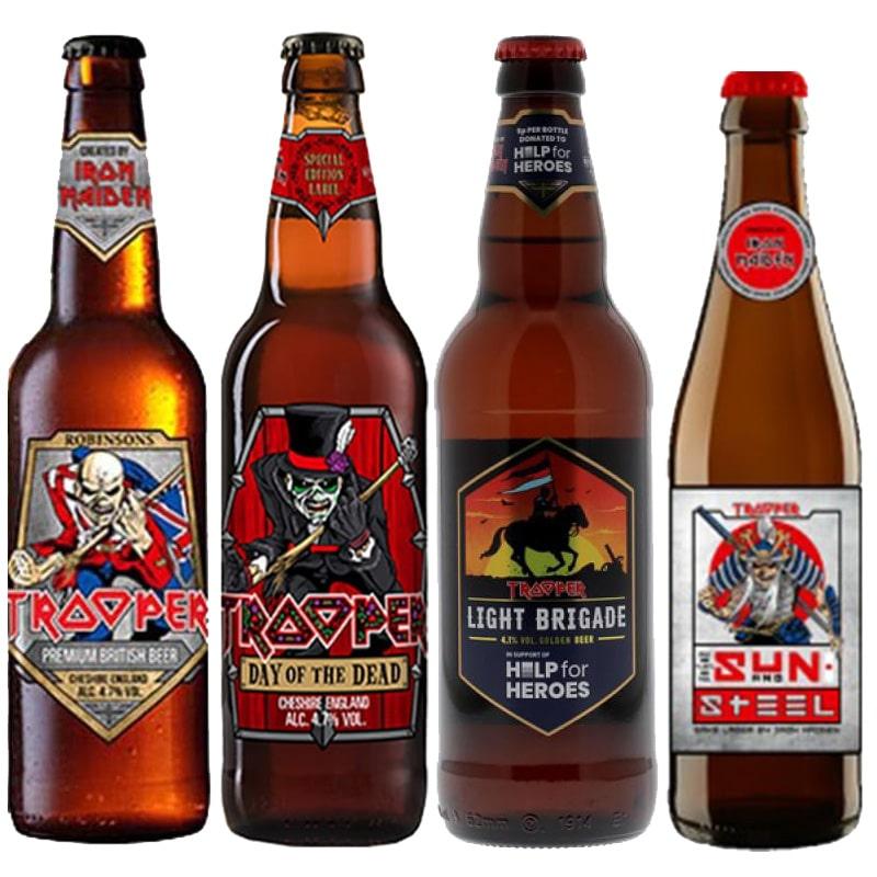 Kit de Cervejas Trooper Iron Maiden com 4 Rotulos