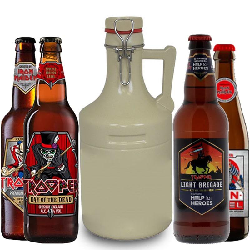 Kit de Cervejas Trooper Iron Maiden com Growler Areia