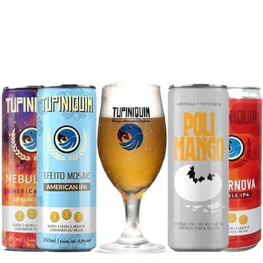 Kit de Cervejas Tupiniquim Ipa com Taça