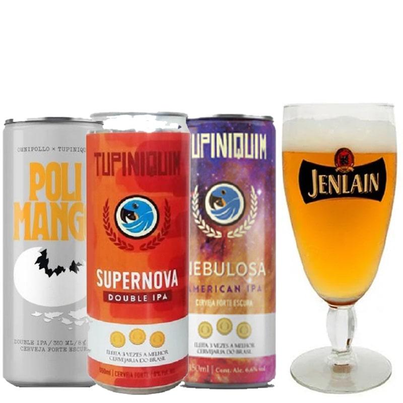 Kit de Cervejas Tupiniquim Ipa com Taça Jenlan