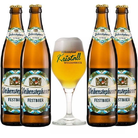 Kit de Cervejas Weihenstephaner com Taça