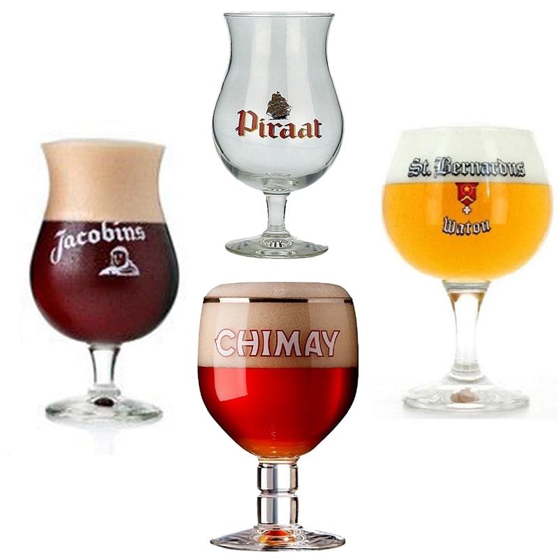 Kit de Taças de Cervejas Belgas contendo 4 Unidades