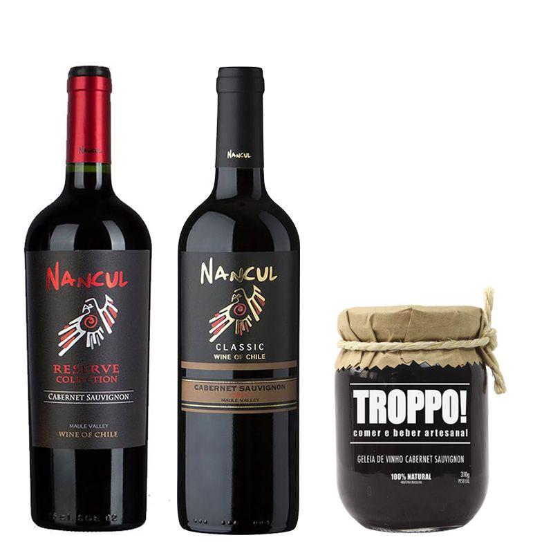 Kit de Vinhos Cabernet Sauvignon com Geleia
