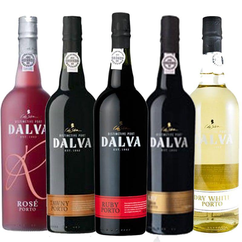 Kit de Vinhos do Porto contendo 5 rótulos