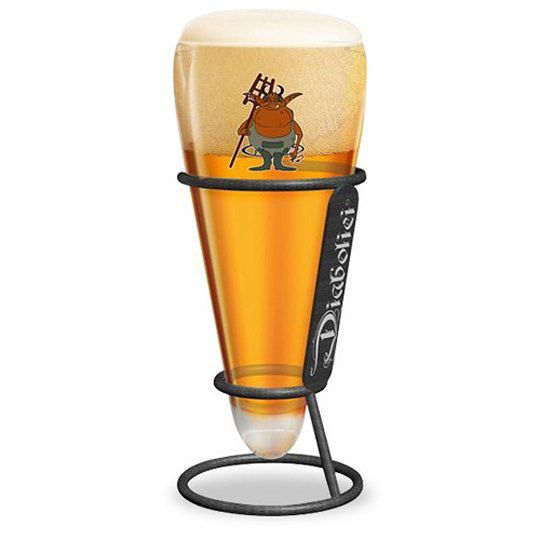 Kit Diabolici 2 Cervejas e Copo com Suporte Diabolici
