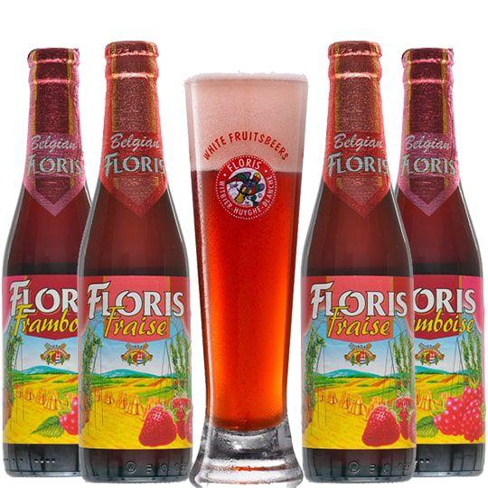 Kit Floris 4 Cervejas com Copo