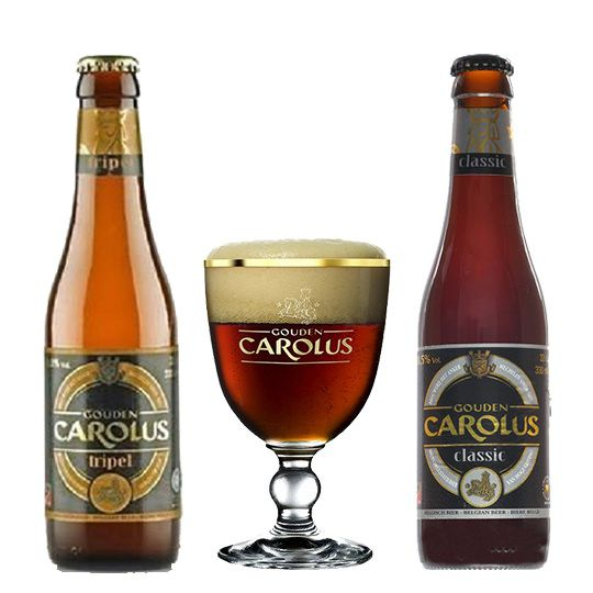 Kit Gouden Carolus Classic e Tripel com Taça