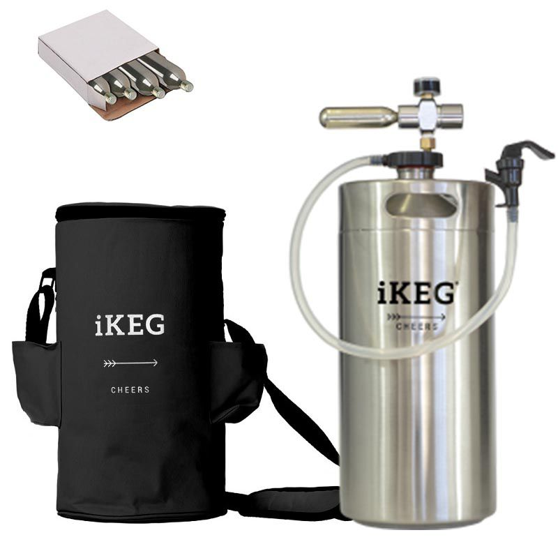 Kit Ikeg 10 Litros com Torneira de Plástico e Bolsa Térmica Preta e CO2