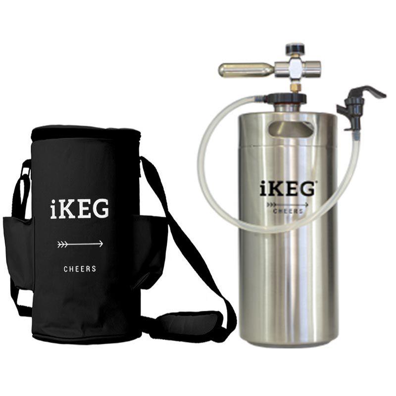 Kit Ikeg 4 Litros com Torneira de Plástico e Bolsa Térmica Preta