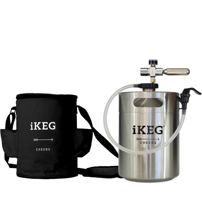 Kit Ikeg 5 Litros com Torneira de Plástico e Bolsa Térmica Preta