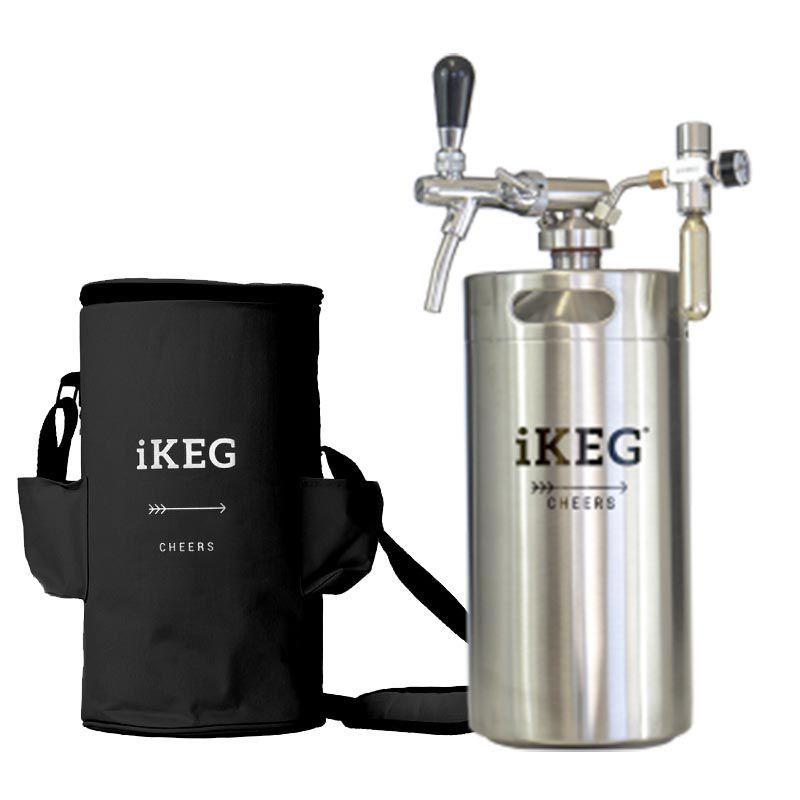 Kit Ikeg de 10 Litros com Torneira Italiana e Bolsa Térmica Preta