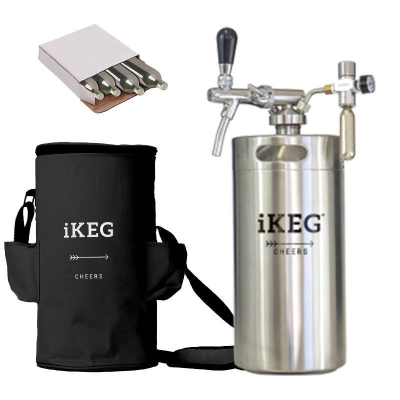 Kit Ikeg de 10 Litros com Torneira Italiana e Bolsa Térmica Preta e Co2