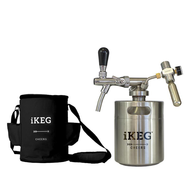 Kit Ikeg de 2 Litros com Torneira Italiana e Bolsa Térmica Preta