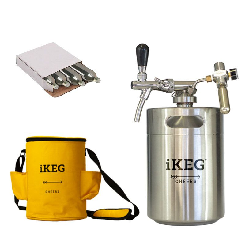 Kit Ikeg de 5 Litros com Torneira Italiana e Bolsa Térmica e Co2