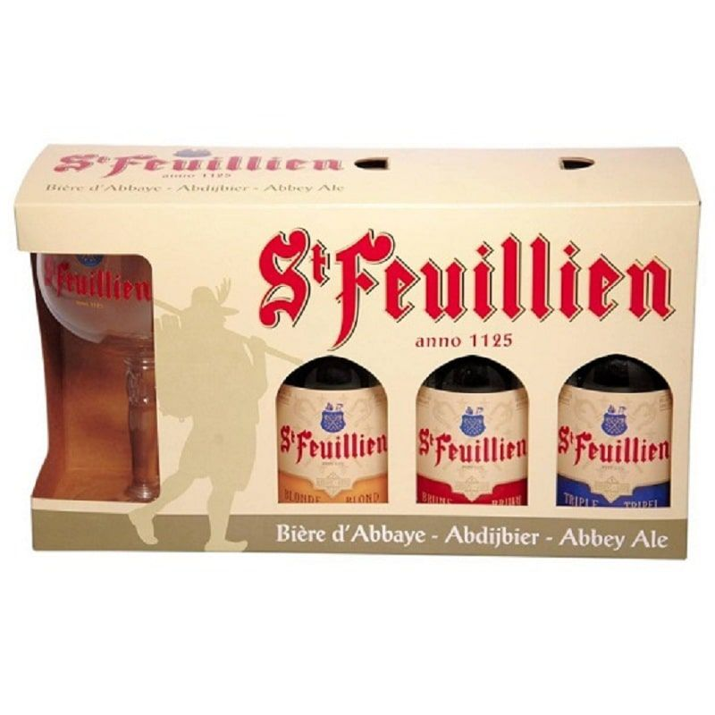 Kit St Feuillien Blonde Brune e Triple 330 ml