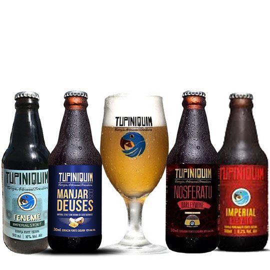 Kit Tupiniquim 4 Cervejas com Taça 330 ml