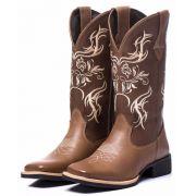Bota Texana Feminina em Couro 7250 Black Friday Couro bovino