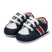Tênis Bebe Infantil Kapell Branco Azul e Vermelho