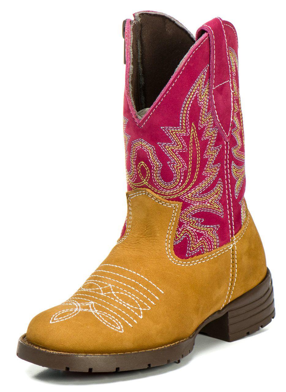 9e78cfcf81a68 Bota Country Texana Infantil Rosa Masculina Menino Couro - Kapell ...