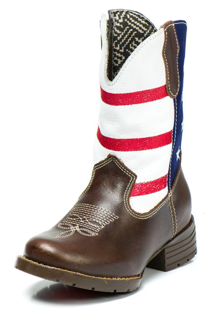 251a189ec7ffd Bota Country Texana Infantil Usa Masculina Menino Couro - Kapell ...