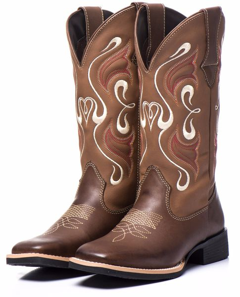 Bota Texana Feminina em Couro 7251 Black Friday Couro bovino