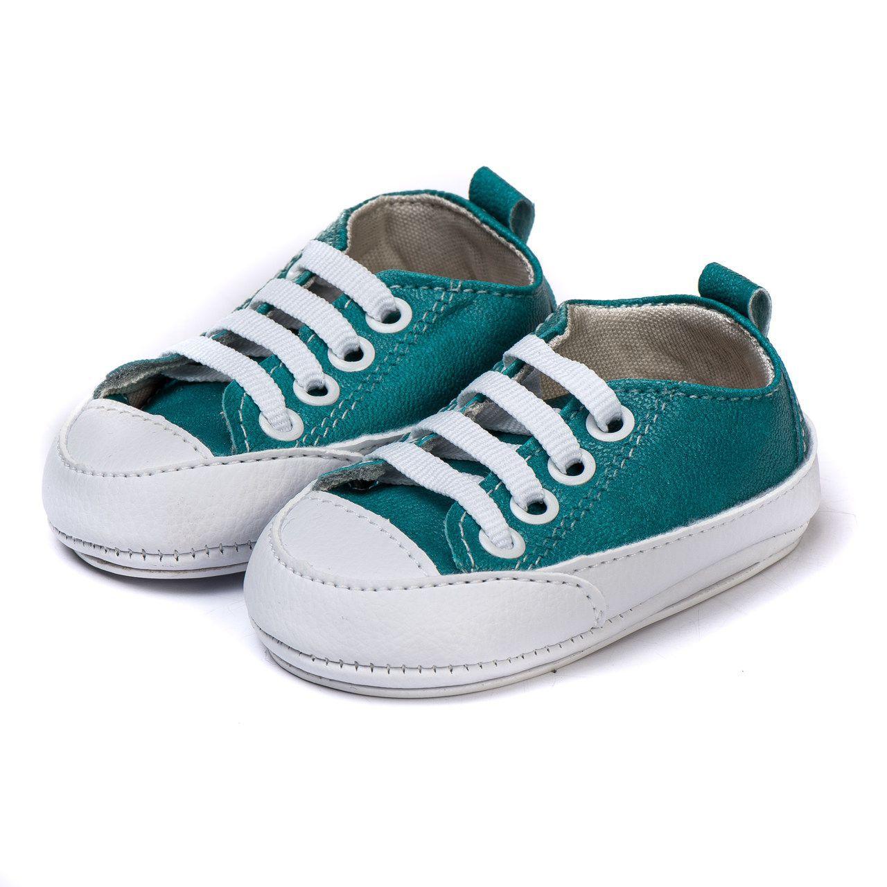Tênis Bebe Infantil Kapell Verde e  Branco