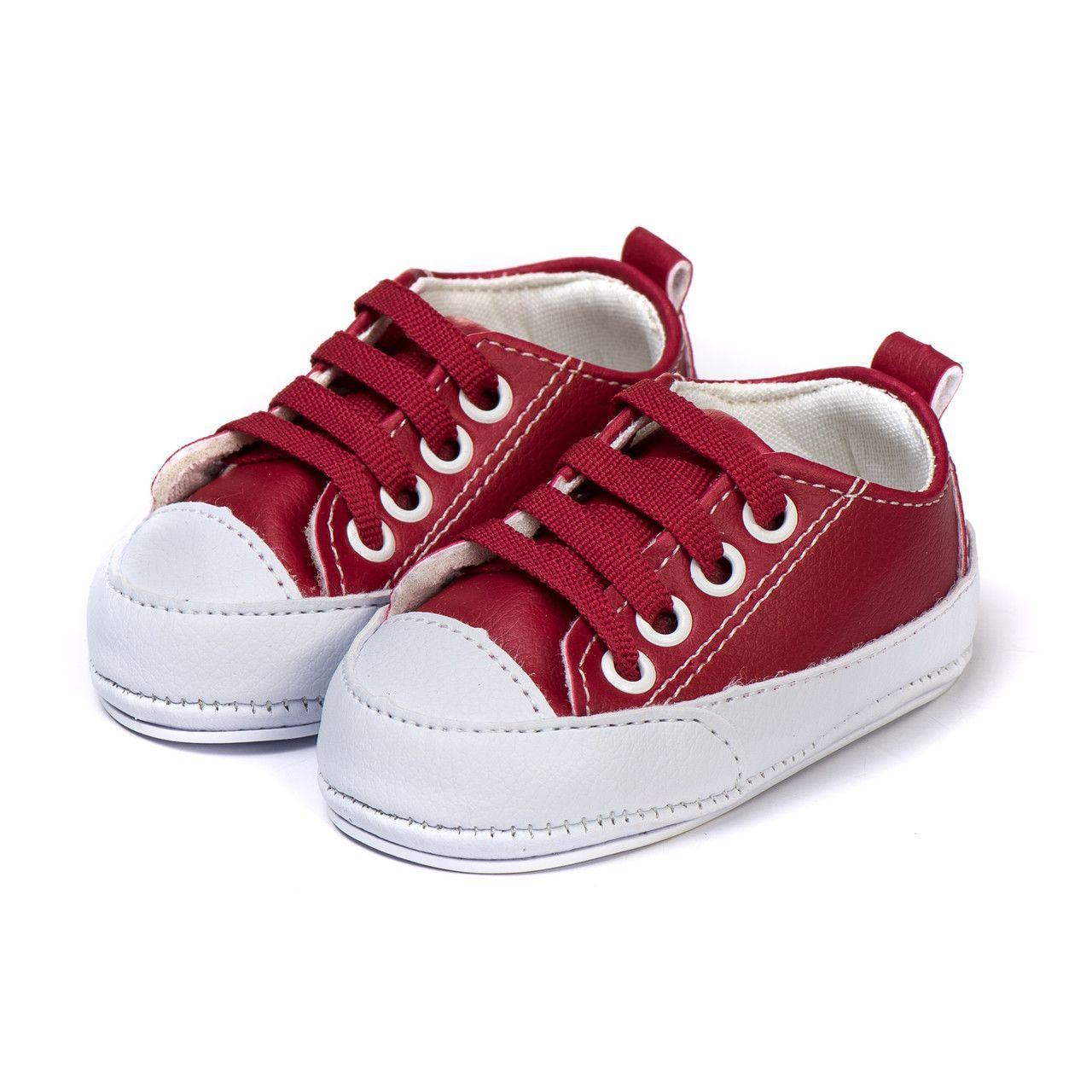 Tênis Bebe Kapell Infantil  Vermelho e Branco