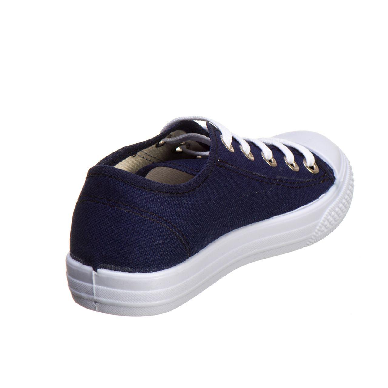 29249e72ec Tênis Infantil Masculino e Feminino Escolar Azul e Branco - Kapell ...
