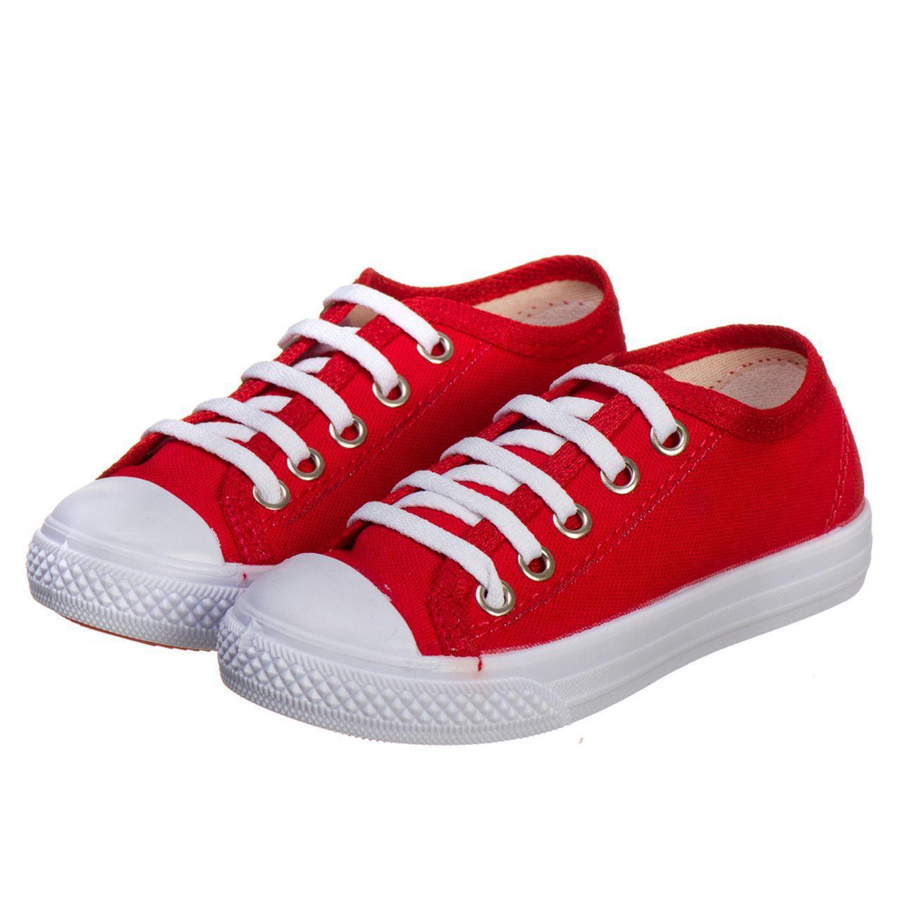 784941251e Tênis Infantil Masculino e Feminino Escolar Vermelho - Kapell Calçados