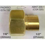 Adaptador p/ válvula topo CO2 padrão Ista de 7/8