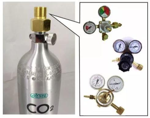"""Adaptador p/ válvula topo CO2 padrão Ista de 7/8"""" (22mm) p/ 1/2"""" (21mm)"""
