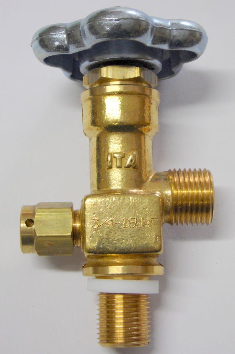 Válvula topo p/ cilindro CO2 3/4'' x 1/2''  UNF