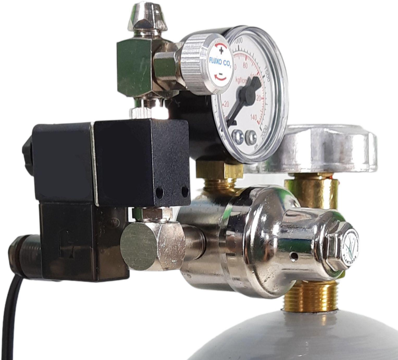 Kit CO2 c/ cilindro de aço 3kg e 1 saída p/ aquário