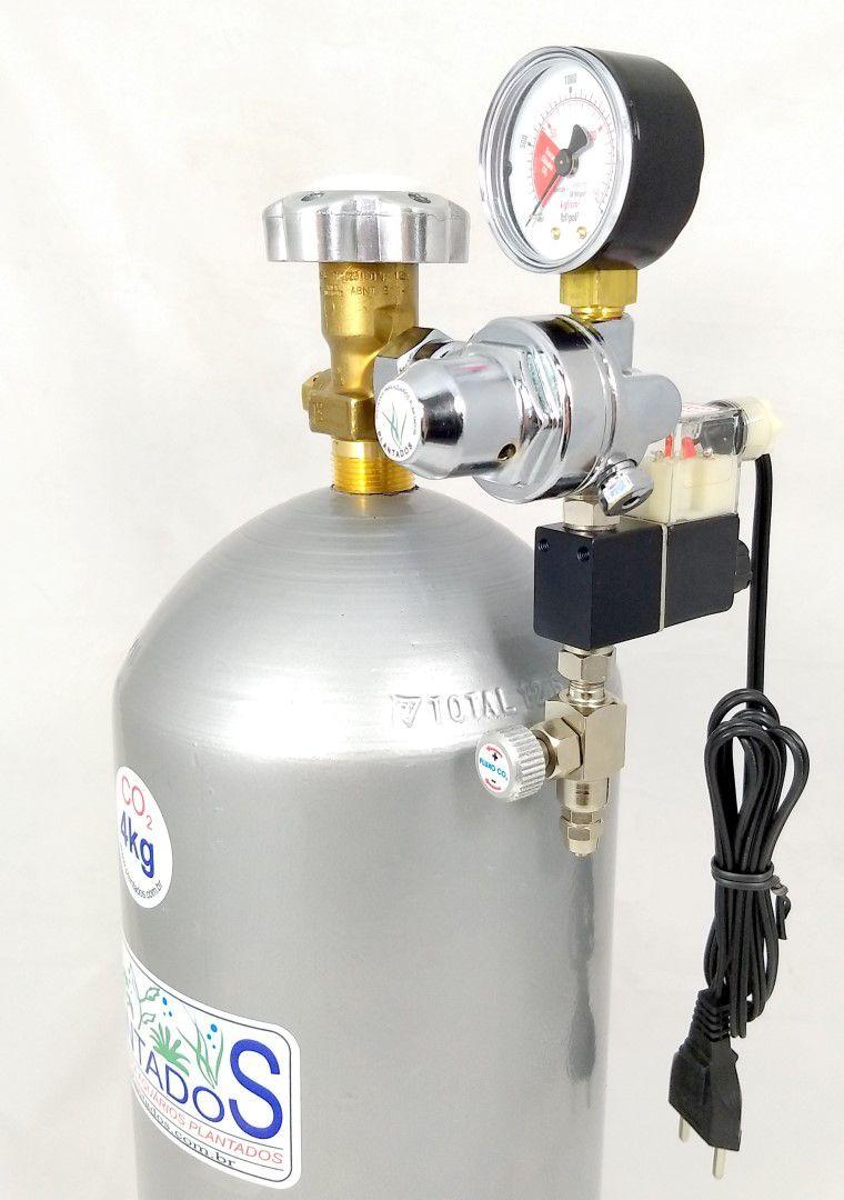 Kit CO2 c/ cilindro de aço 4kg e 1 saída p/ aquário