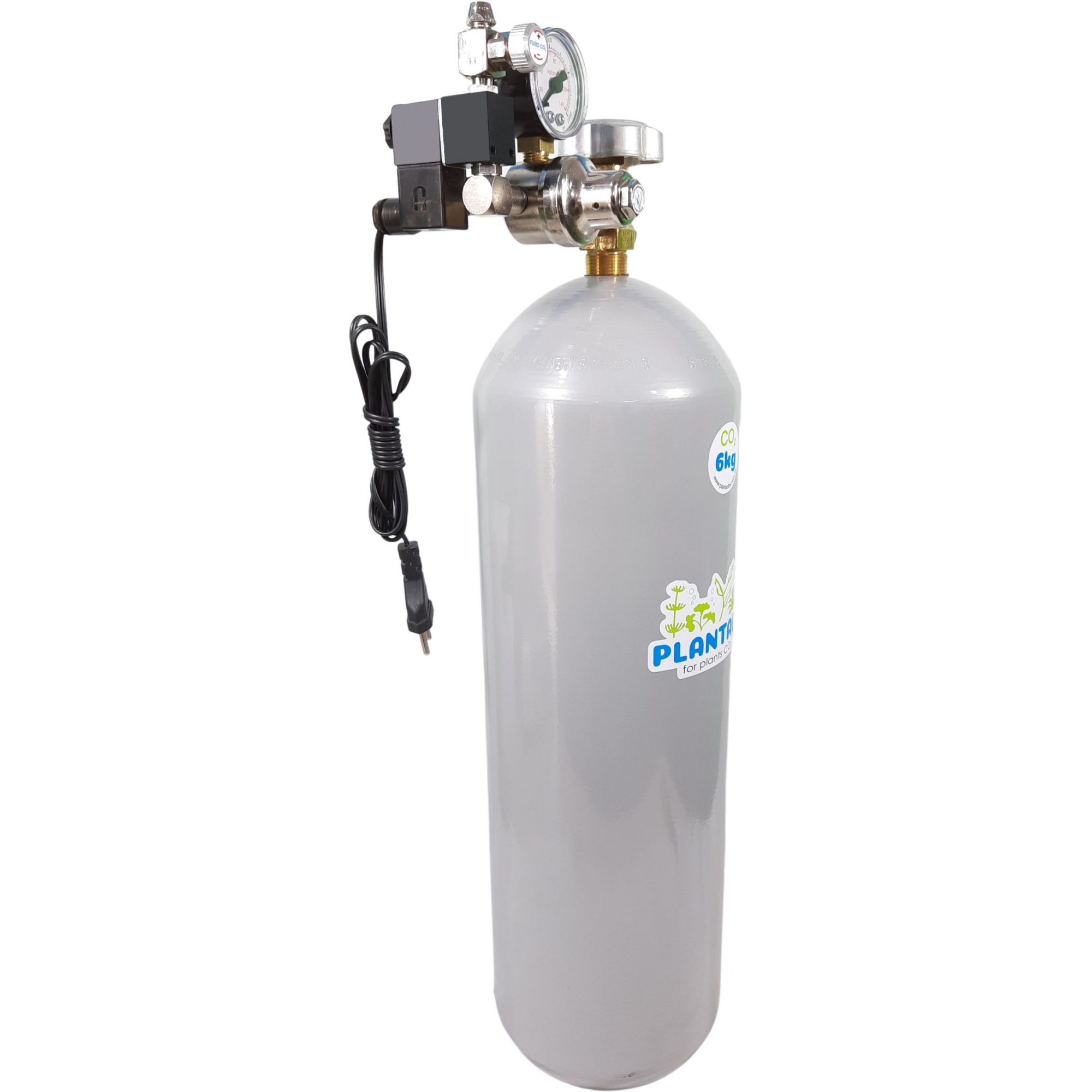 Kit CO2 c/ cilindro de aço 6kg e 1 saída p/ aquário