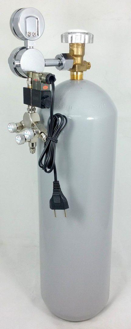 Kit CO2 c/ cilindro de aço 6kg e 3 saídas p/ aquário