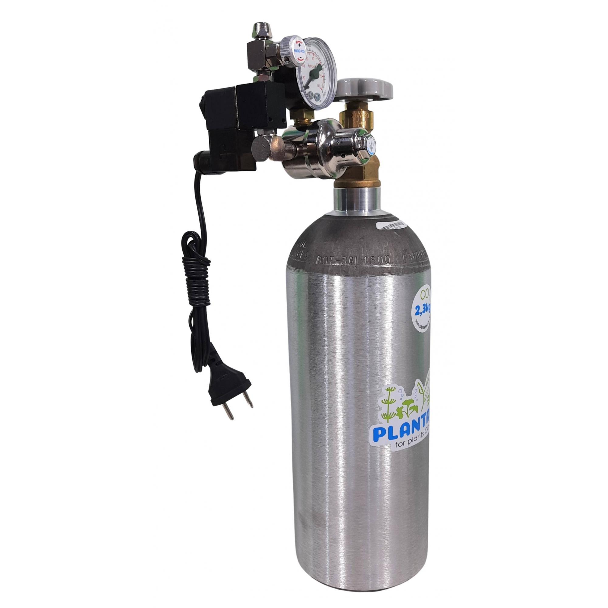 Kit CO2 c/ cilindro de alumínio 2,3kg e 1 saída p/ aquário