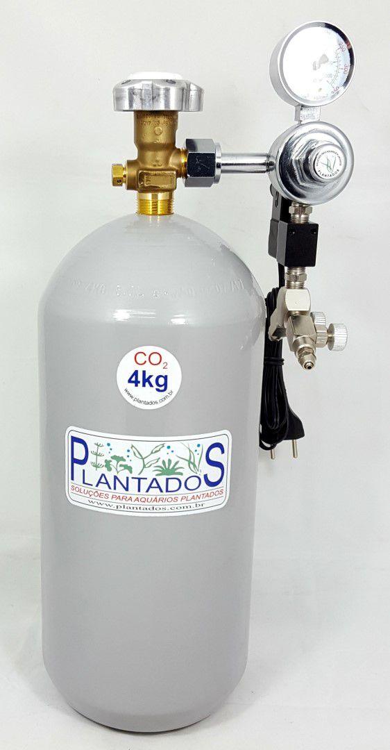 Kit CO2 c/ cilindro de aço 4kg e 2 saídas p/ aquário