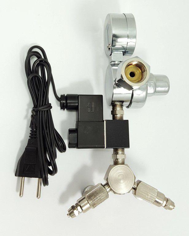 Kit p/ cilindro de CO2 com 2 saídas p/ aquário