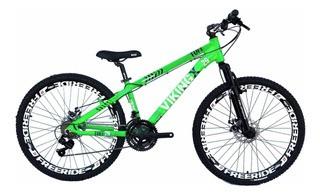 Bicicleta Freeride Vikingx Aro 26 Freio À Disco 21v