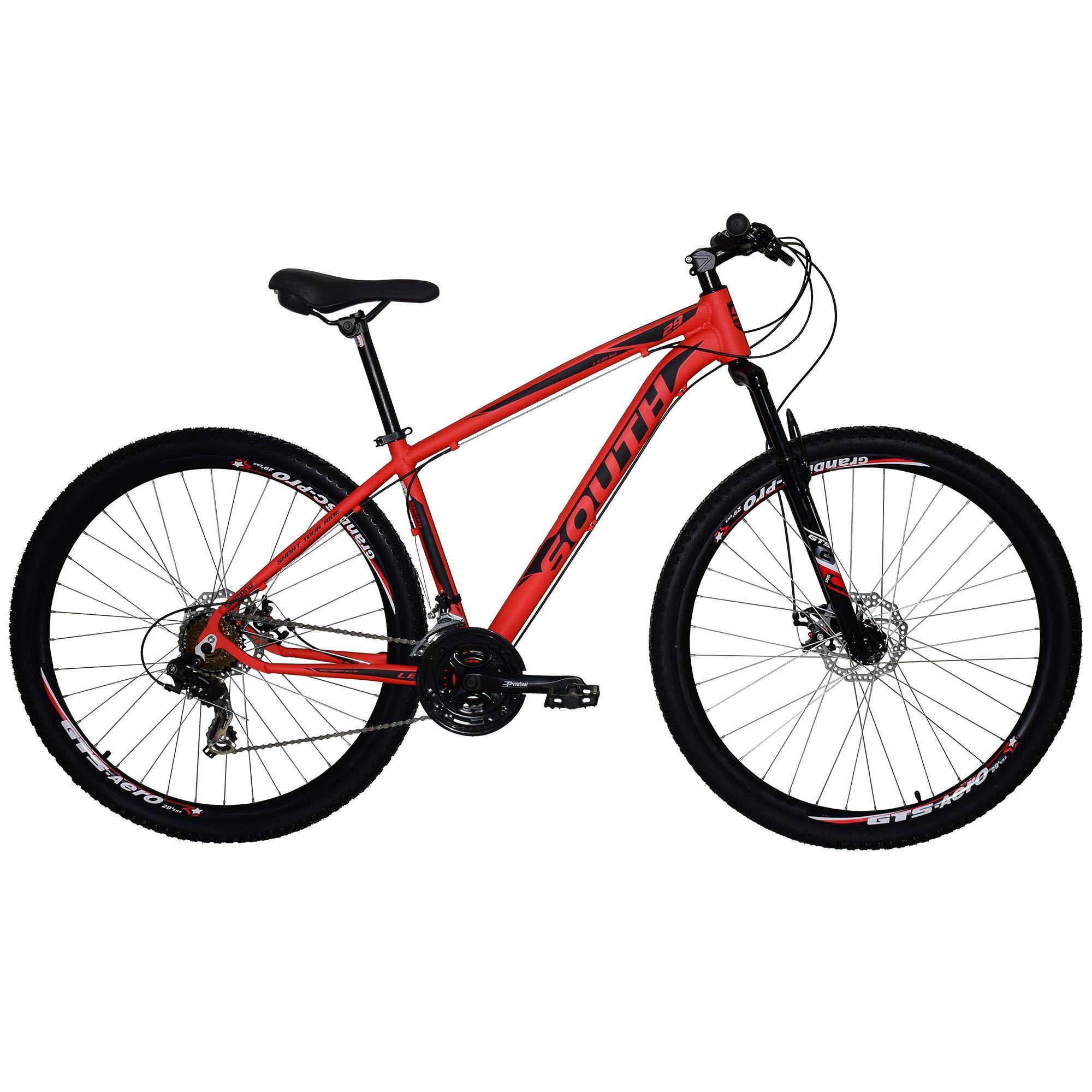 Bicicleta South Legend 2018 - 24 Marchas - Aro 29 - Câmbio Shimano - Freios á disco