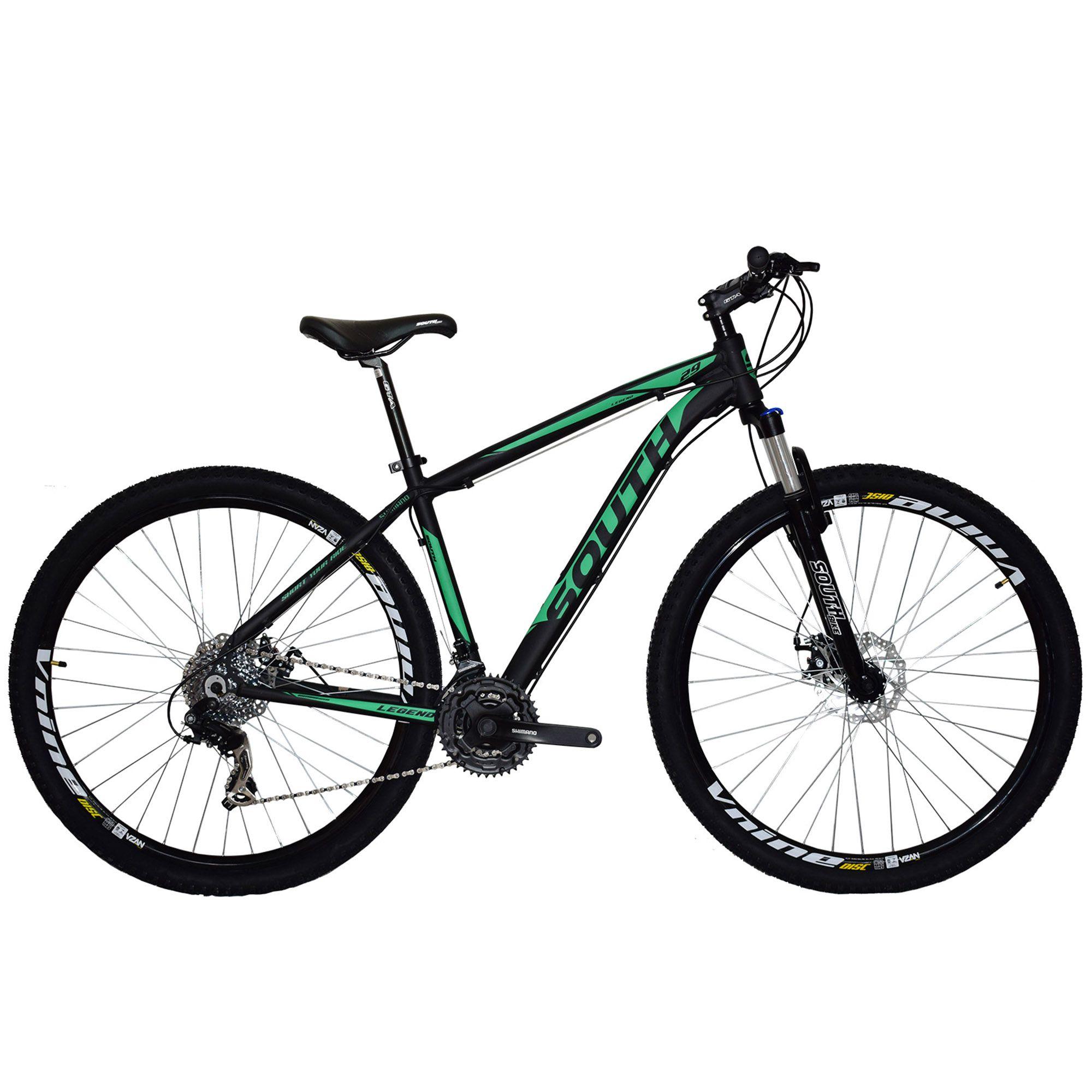 Bicicleta South Legend 2018 Shimano - 24 Marchas - Suspensão 100mm - Aluminio